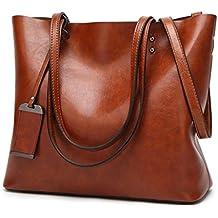 acb09148fe4 Bolso De cuero Bolsos de mujer de gran capacidad Diseñador de Bolsos con  bandoleras monederos dama