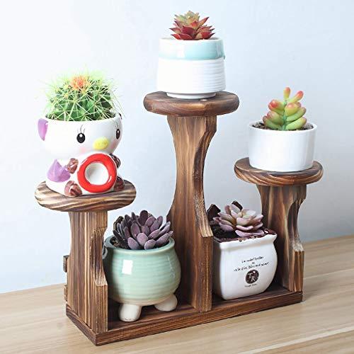 LLYU Plante cadre bois massif table succulente stand de fleurs bureau pot de fleurs rack multi-couche support de fleurs escaliers