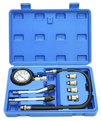 FreeTec Kompressionsprüfer Kompressionstester Motor Kompression prüfen meßen Kfz M10 M12 M14 M18 (Durchmesser-motoren)