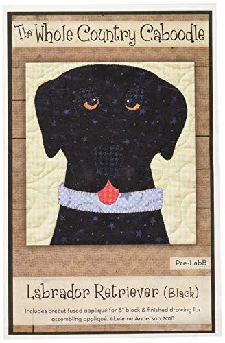 Whole Country Caboodle WCCPRELABB Labrador Retriever schwarz vorgeschnittene Fused Applikation -