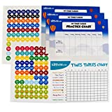 Kippson Times Tables Practice/Reward Chart with 144 Stickers