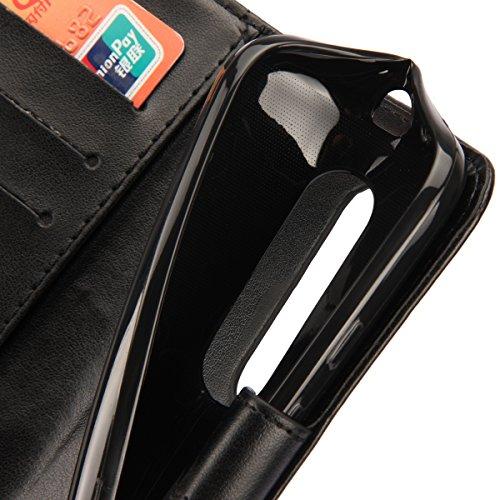 Motorola Moto G (3rd Generation) Hülle,Moto G3 Hülle,Motorola Moto G (3rd Generation) Leder Wallet Tasche Brieftasche Schutzhülle,ikasus® Malerei Schmetterling Muster PU Lederhülle Flip Hülle im Books Schwarz