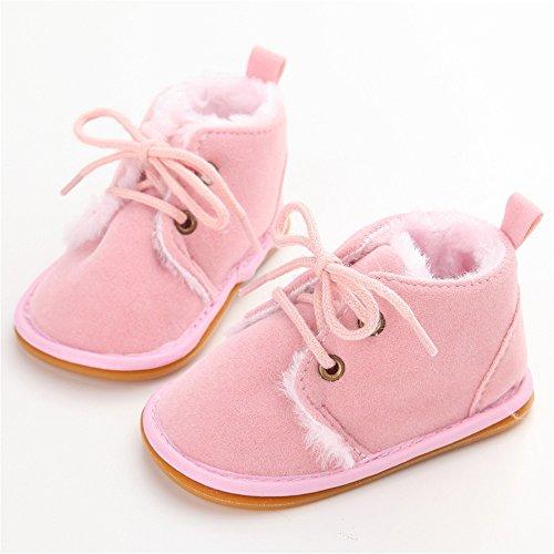 Bottes de bébé fille,Chaussures d'hiver bébé garçon Rose