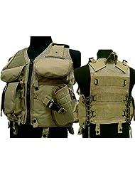 Tactical TVE combate chaleco molle revista para Airsoft Paintball militar marrón