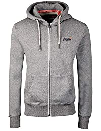 Superdry - Sweat-Shirt à Capuche - Homme Gris Vintage Grey Feeder Stripe 0881086e93cd