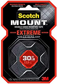 Scotch-Mount Extreme Double-Sided Mounting Tape - Red