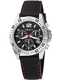 M-WATCH Swiss Made Aqua Steel 40 Analog Black Dial Men's Watch-WBX.36421.RB