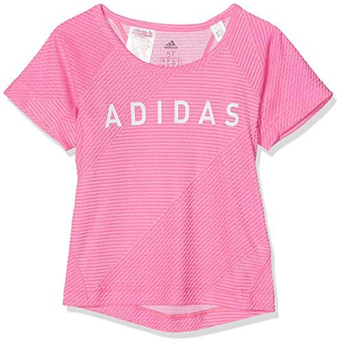 adidas Mädchen Training T-Shirt, Semi Solar Pink/White, 140