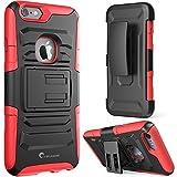 iPhone 6 / 6S Case, i-Blason Apple iPhone 6 / 6S 4.7 Case Schutzhülle Tasche - Prime Serie 2-Schicht Holster Hülle mit Standhälter, schwenkbaren Gürtel mit Locking-Mechanismus für iPhone 6 (rot)