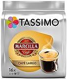 Tassimo Marcilla Café Largo, Kaffee, Kaffeekapsel, Gemahlener Röstkaffee, 16 T-Discs