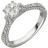 Dreambase Damen-Ring 1,04 ct. 14 Karat (585) Weißgold 119 Diamant 1.04 ct. 56 (17.8)