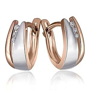 Goldmaid Damen-Creolen 925 Sterlingsilber 6 weiße Diamanten (0.04 ct) Ohrringe Schmuck