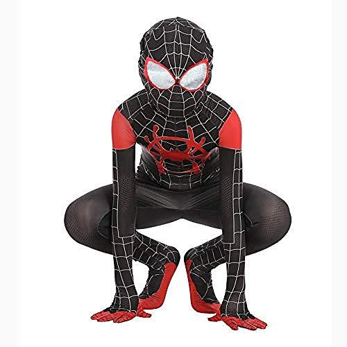 YIWANGO Kinder Erwachsene Film Cosplay Kostüm Druck Spinne Muster Overall Onesies Druck Hoodie Spiderman Strumpfhosen Kinder Party Kostüm Für Halloween,Large