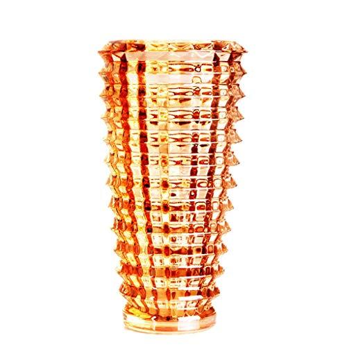 Vases LXF Creative épaissie Colorful Salon Porche Verre Rich Bamboo Lily Fleurs Séchées Hydroponique (Color : A)