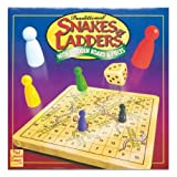 Traditional Snakes & Ladders with Wooden Board & Pieces