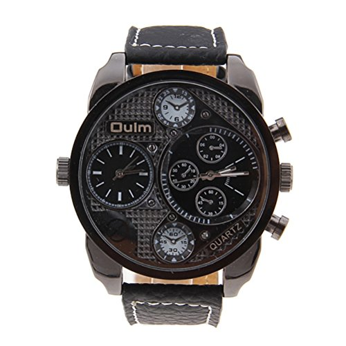 pixnor-oulm-9316-cool-mens-big-round-dial-dual-time-display-quartz-wrist-watch-with-pu-band-black
