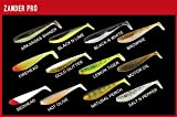 3 Fox Rage Zander Pro Shads Loaded 12cm 4/0 12g fertig montierte Gummifische, Farbe:Natural Perch