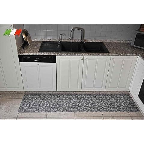 Silver Tappeto cucina largo 50 cm. [VAR. 1] [150 CM.]