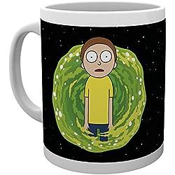 Rick y Morty taza Nadie existe Cita negro de cerámica 300ml