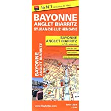 Plan de Bayonne, Anglet, Biarritz, Saint-Jean-de-Luz, Hendaye et 8 autres communes de l'agglomération