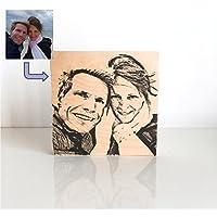 Dein Foto als Holzkachel - ein persönliches Fotogeschenk und Unikat zu Weihnachten als Weihnachtsgeschenk, zum Geburtstag als Geburtstagsgeschenk, als Hochzeitsgeschenk