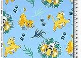 Die Stofftante Baumwolljersey Disney König der Löwen,