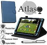 Navitech 8 Zoll Blaue Hülle / Case / Cover mit 360 Grad rotierbarem Stand und Stylus für Acer Iconia One 8 / Acer Iconia Tab 8 A1-840