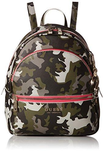 Guess Damen Manhattan Rucksack, Mehrfarbig (Camouflage/CMO), 28x33.5x12 Centimeters