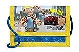 Geldbeutel mit Namen | personalisiert & Bedruckt | Motiv BOB DER Baumeister | Geldbörse Kindergeldbeutel zum umhängen blau Fische Nemo | inkl. NAMENSDRUCK
