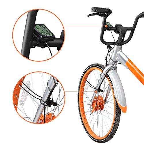 Enkeeo Aufladbare Fahrradcomputer – 1205 Fahrradtacho wasserdicht Radcomputer mit Kabel, 12 Stunden LCD Hintergrundbeleuchtung, Trittfrequenz Sensor, Kilometerzähler - 9