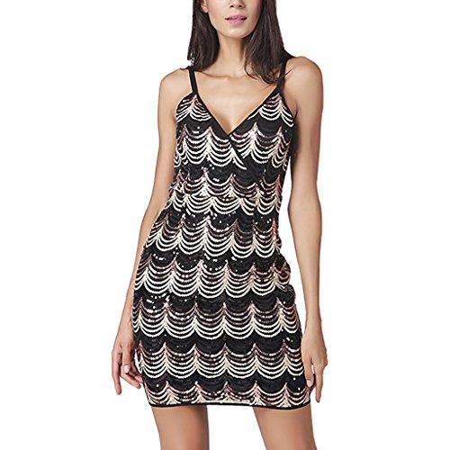 Creative Light- Womens Halter Dress Estate sexy senza bretelle di cablaggio pacchetto Hip Dress Fashion One Step Gonna ( dimensioni : Xl )