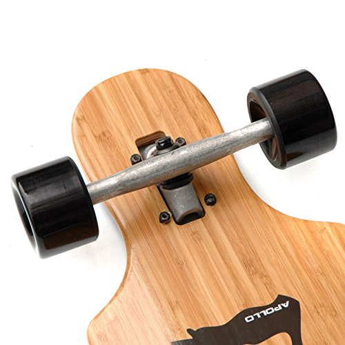 Hawaiian Wulff Twin Tip - Drop Thru Longboard | Brand new complete board 2014 from the trendy and exclusive label Apollo | Stylish board made of Canadian maple| Length: 101.8 cm / 40'' - Width: 24 cm / 9.5'' -