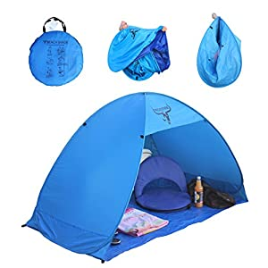 frostfire popup beach shelter with uv protection (50+ upf)