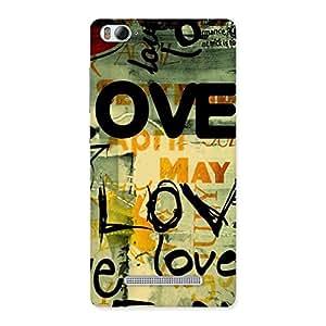 Impressive Love Typo Multicolor Back Case Cover for Xiaomi Mi4i