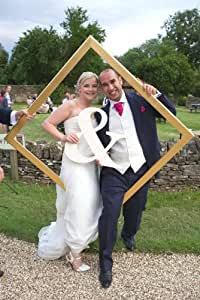 Wooden Ampersand by The Happy Wedding Co.