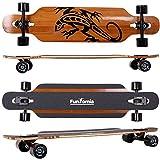 FunTomia® Longboard Skateboard Drop Through Cruiser Komplettboard mit Mach1® High Speed Kugellager...