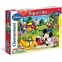 Clementoni 23974 - Puzzle Mickey Mouse Club House, 104 Maxi Pezzi, Multicolore