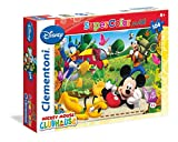Clementoni 23974.0 - Maxi 104 T Micky Maus Clubhaus, Puzzle