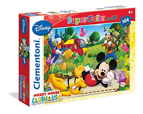 Clubhaus Spielzeug Mickey-mouse (Clementoni 23974.0 - Maxi 104 T Micky Maus Clubhaus, Puzzle)