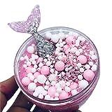 Meerjungfrau Bubble Ball Crystal Dekor Schöne Farbe mischender Wolkenschlamm Wolken-Zuckerwatte-Schlamm scherzt Putty Scented Stress Relief Squeeze Lehm-Spielzeug