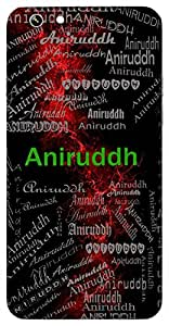 Aniruddh (Grandson Of Lord Krishna) Name & Sign Printed All over customize & Personalized!! Protective back cover for your Smart Phone : Motorola Moto - E ( 1st Gen )