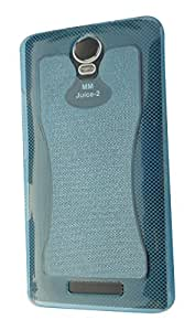 S World Rubber Back Cover For Micromax Canvas Juice 2 AQ5001 - Blue