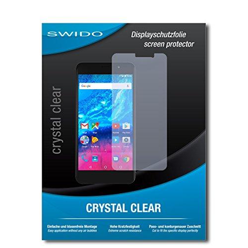 SWIDO Bildschirmschutzfolie für Archos Core 50P [3 Stück] Kristall-Klar, Extrem Kratzfest, Schutz vor Öl, Staub & Kratzer/Glasfolie, Bildschirmschutz, Schutzfolie, Panzerfolie