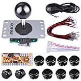 Quimat Arcade Game DIY Parts Kit for PC And Raspberry Pi 1/2/3 with RetroPie, 5Pin Joystick, 8X 30MM And 2X 24MM Buttons (Black)