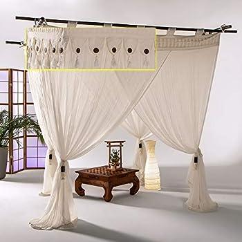 Betthimmel Vorh/änge Bali Style Coco Baldachin Gardinen Himmelbett Vorh/änge 2er Set