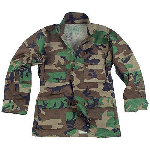 US Feldjacke BDU Ripstop, woodland S-XXL (3XL) (Us Bdu Ripstop Shirt)