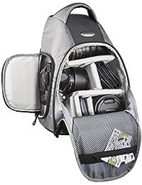 Mantona Sac à dos pour caméra DSLR Miami (accès rapide pour DSLR avec objectif monté, place pour plus d'objectifs ou accessoires, système de transport à sangle)