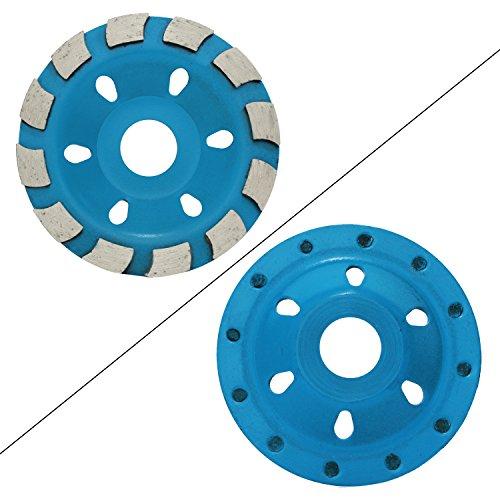 OCR 10,2 cm Beton-Turbo-Diamantschleifscheibenschleifer für Winkelschleifer, 12 Segmente, strapazierfähig