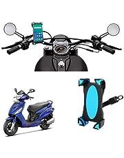 SYSTEM BREAKER 111 Universal Bike/activa/scooty/3/4/5/g Mirror Holder 360 Degree Rotating Bicycle Holder Motorcycle Cell Phone Cradle Mount Holder Mobile Phones (Activa & Bike Holder) (1 Piece)