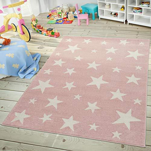TT Home Alfombra Infantil Y Juvenil Cielo Estrellado Diseño Moda En Rosa...